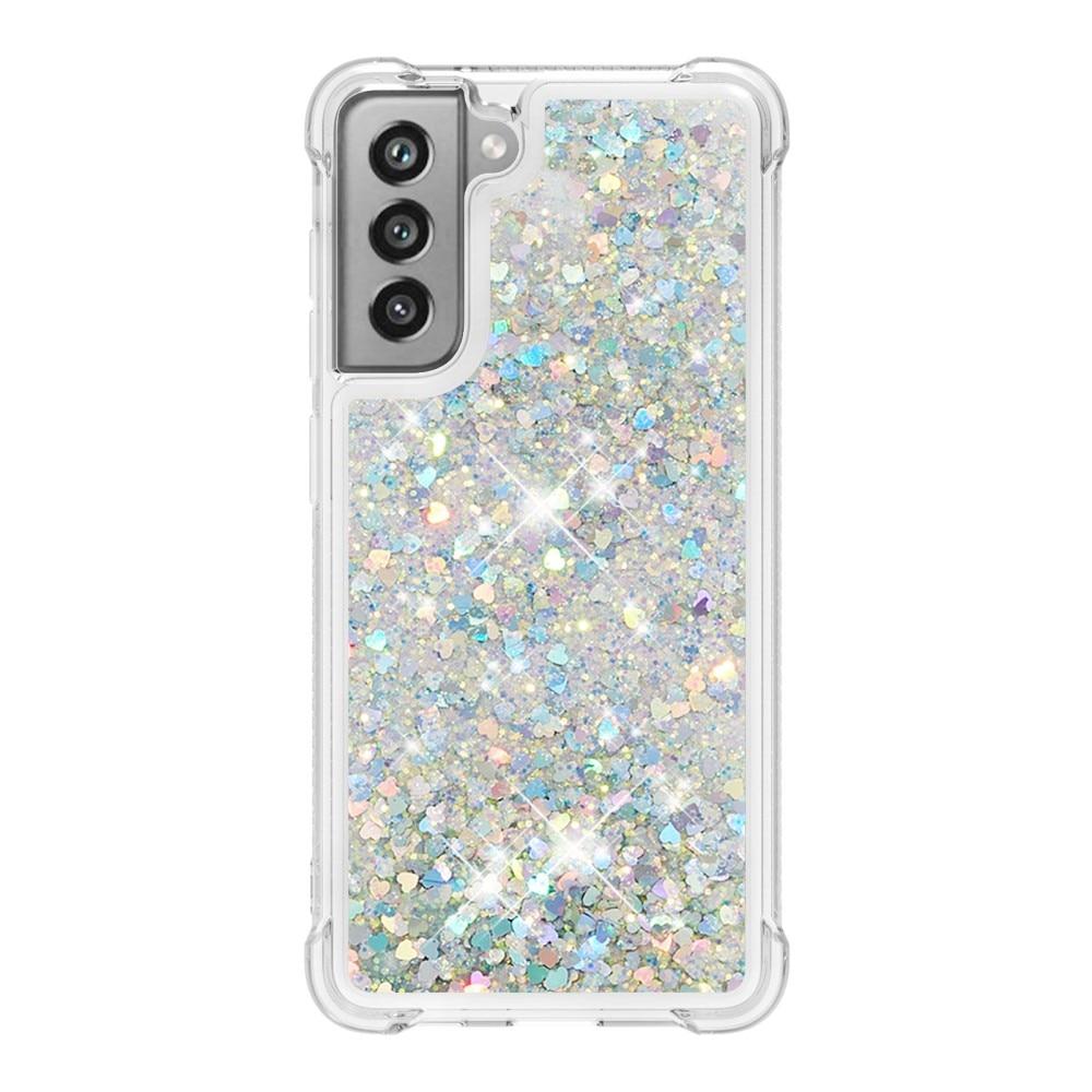 Glitter Powder TPU Case Galaxy S21 FE silver