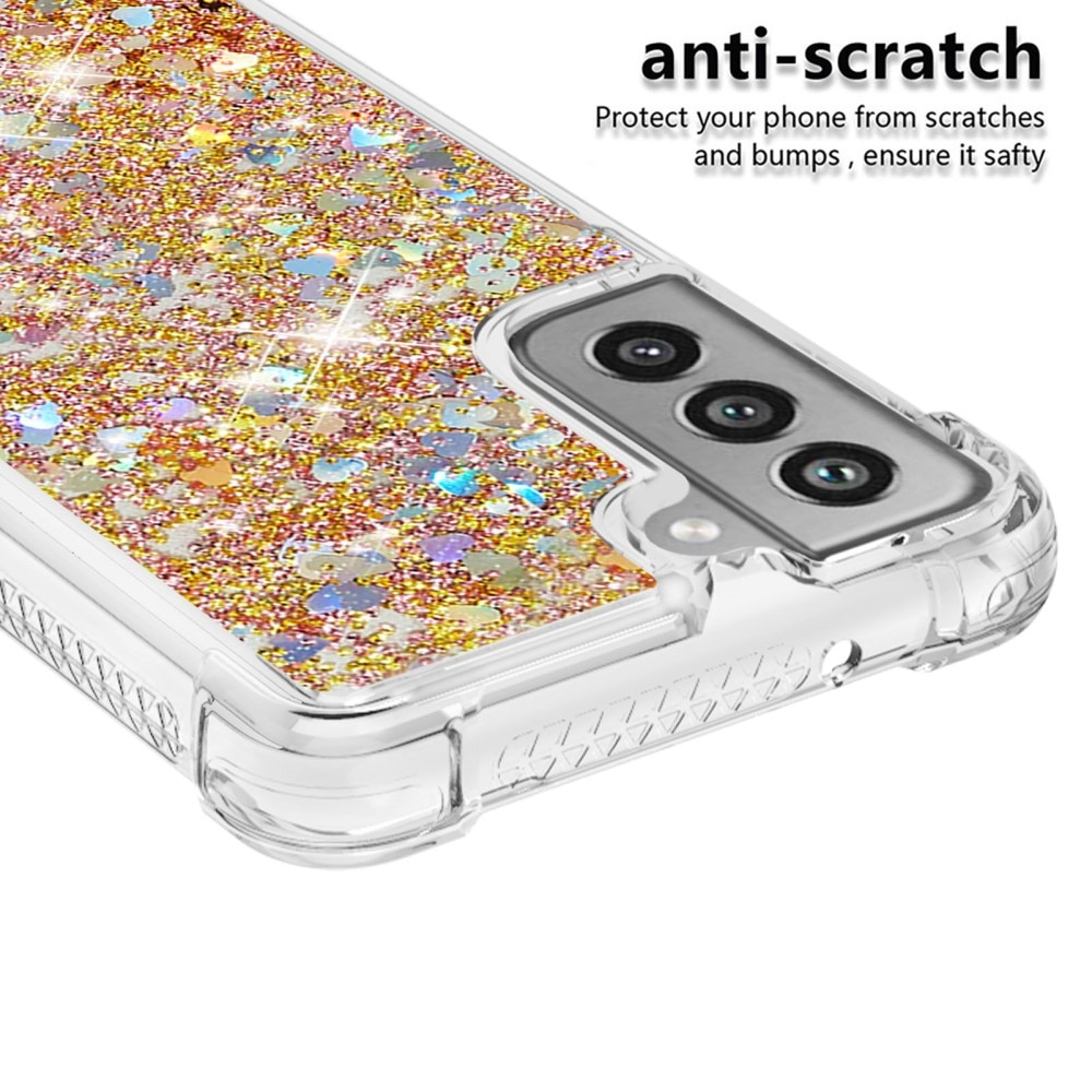 Glitter Powder TPU Case Galaxy S21 FE guld