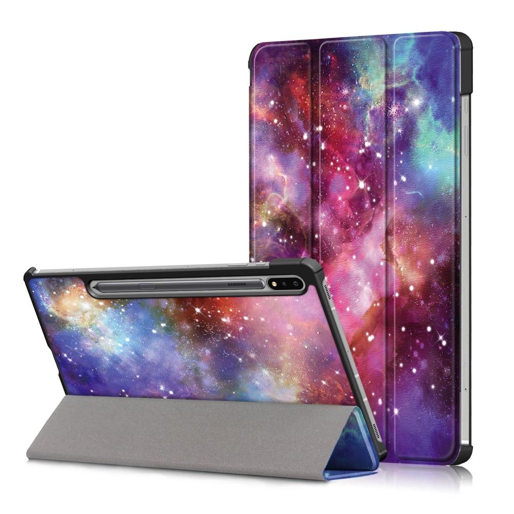 Fodral Tri-fold Samsung Galaxy Tab S7 FE - Rymd