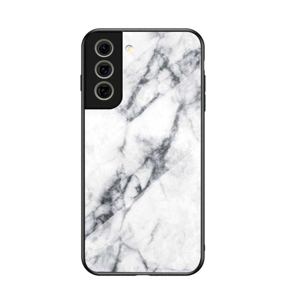 Skal Härdat Glas Samsung Galaxy S21 FE vit marmor