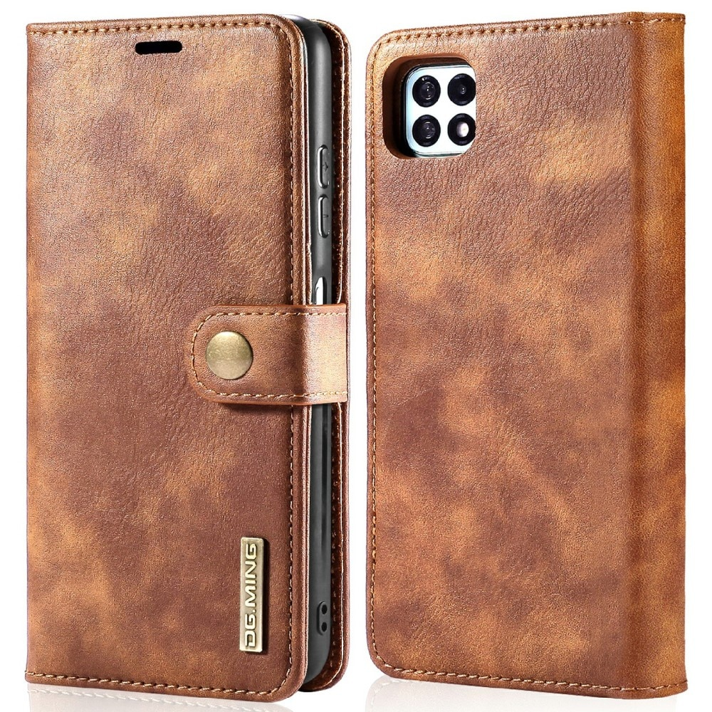 Magnet Wallet Samsung Galaxy A22 5G Cognac