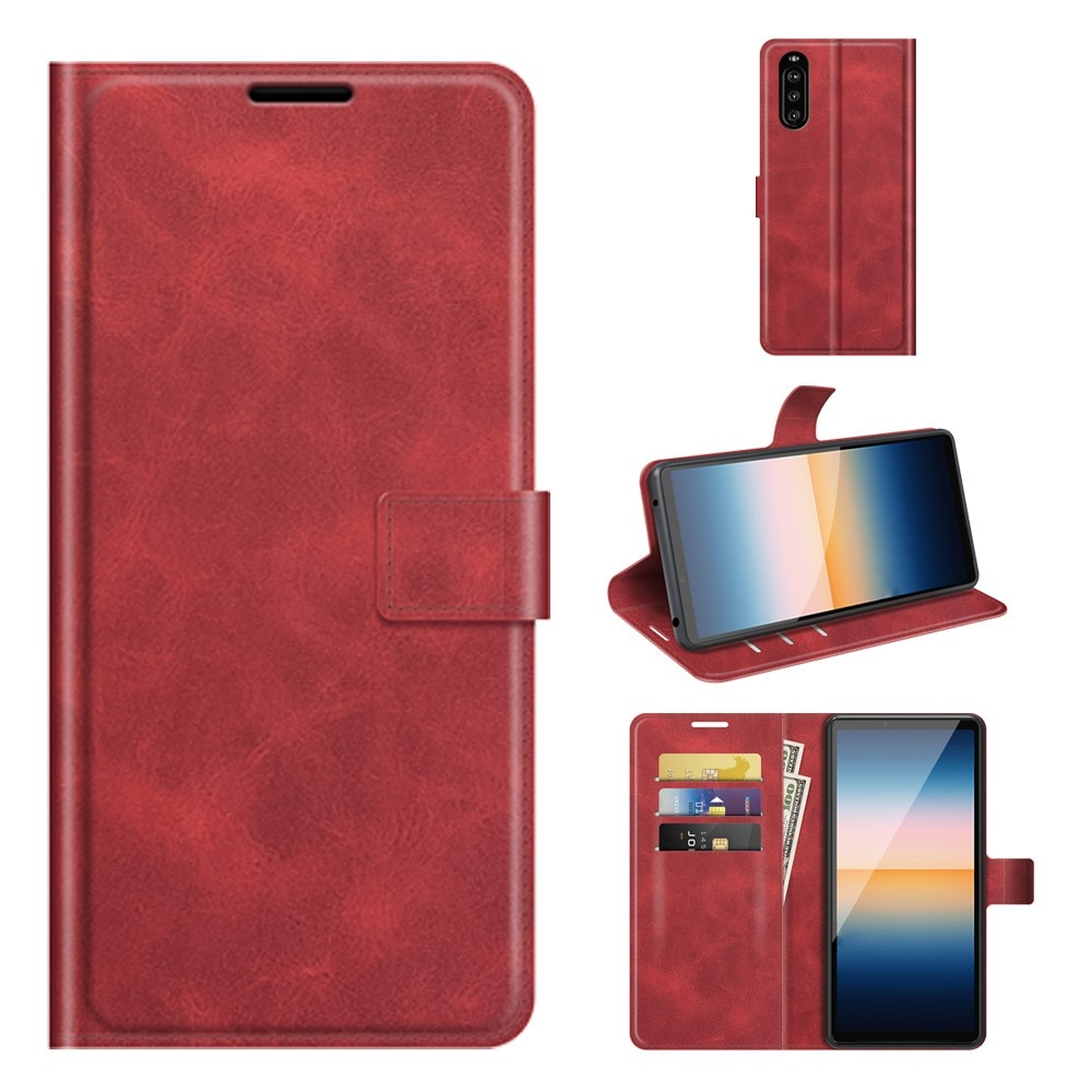 Leather Wallet Sony Xperia 10 III Red