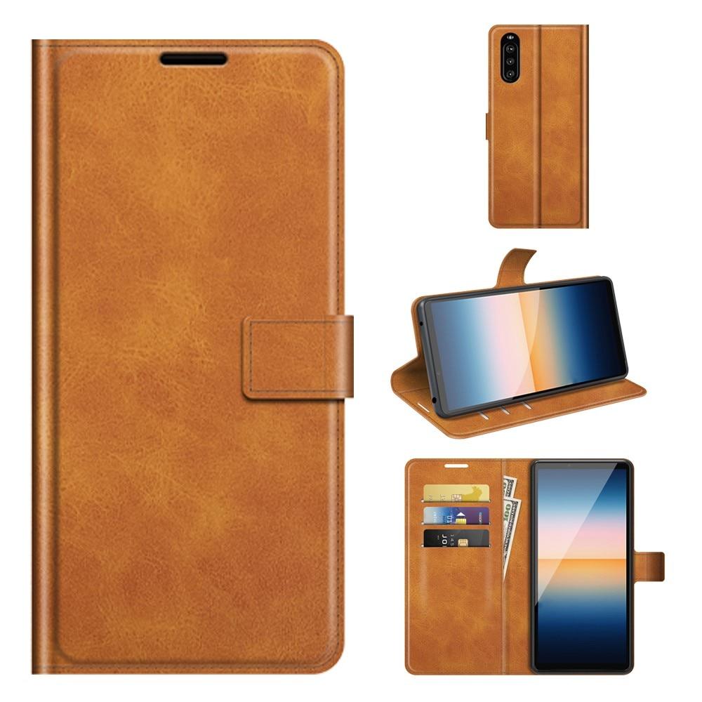 Leather Wallet Sony Xperia 10 III Cognac
