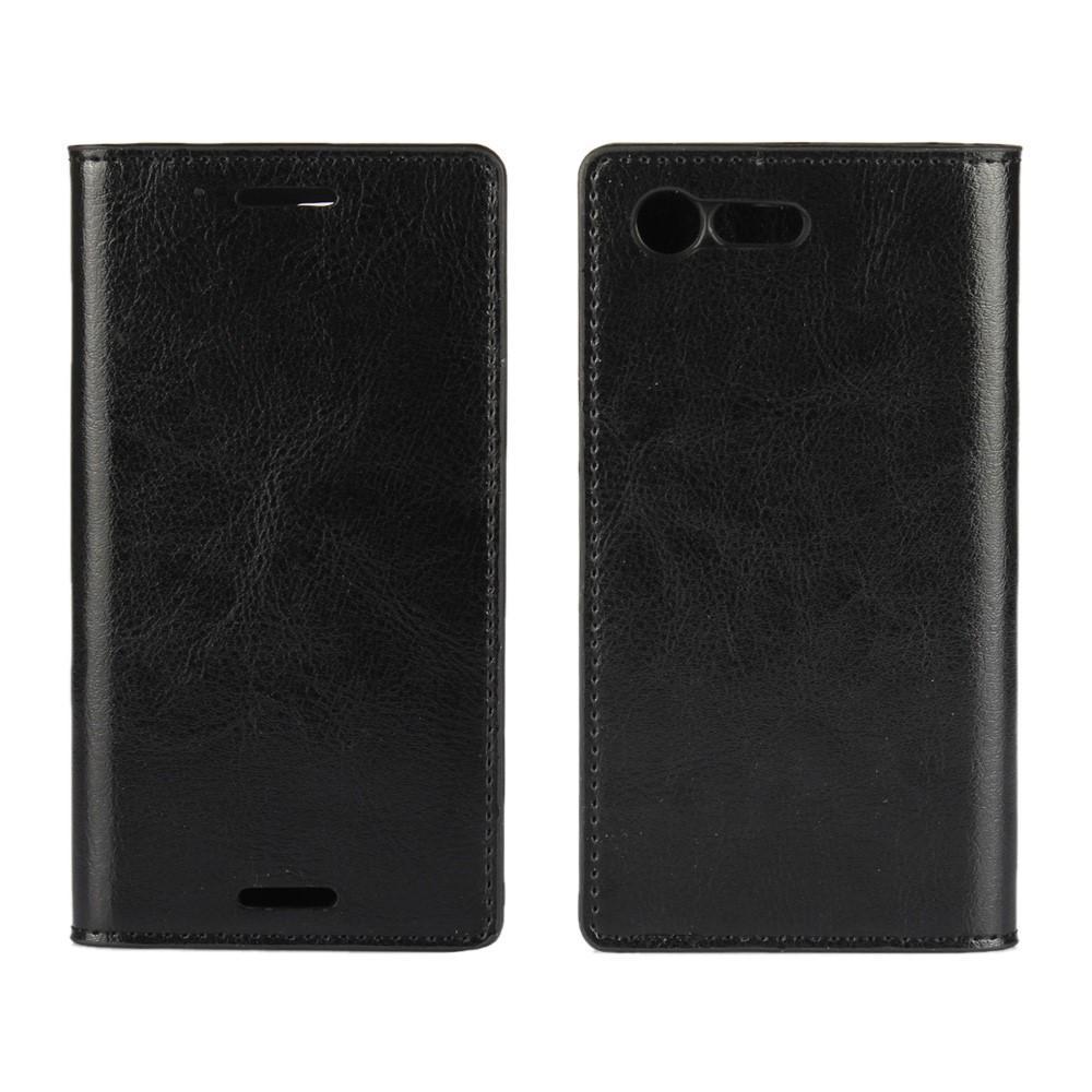 Mobilfodral Äkta Läder Sony Xperia X Compact svart
