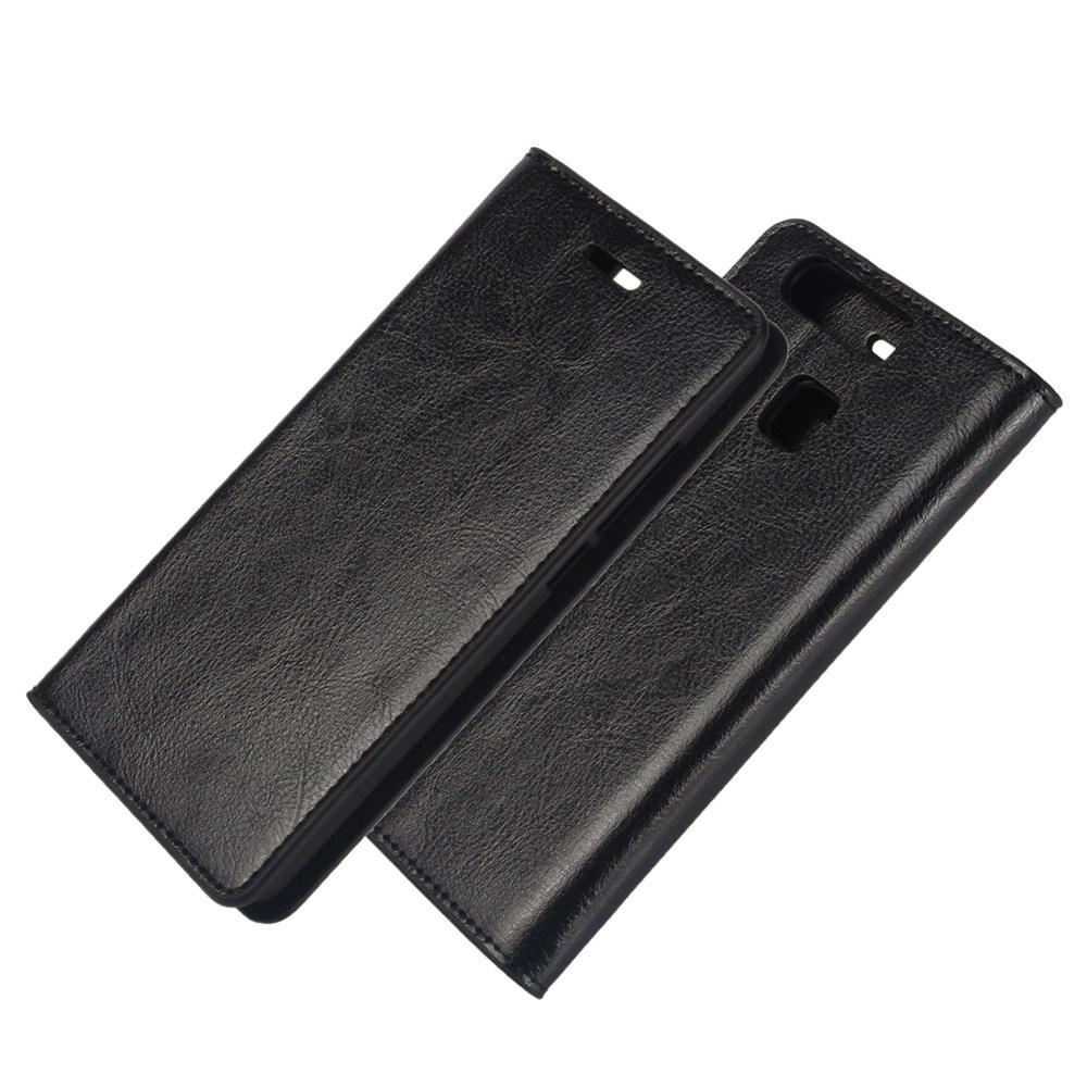 Mobilfodral Äkta Läder Huawei P9 svart