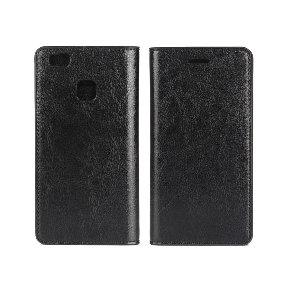 Mobilfodral Äkta Läder Huawei P9 Lite svart