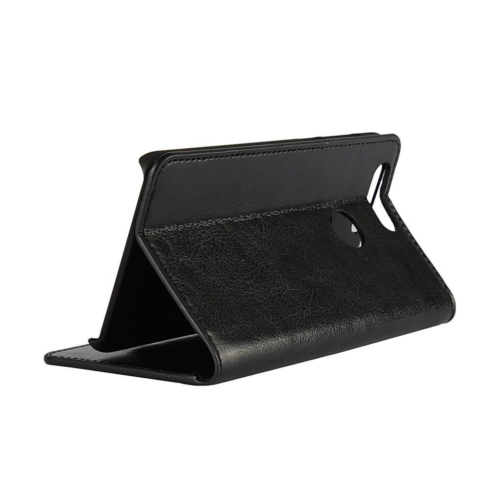 Mobilfodral Äkta Läder Huawei Honor 8 svart