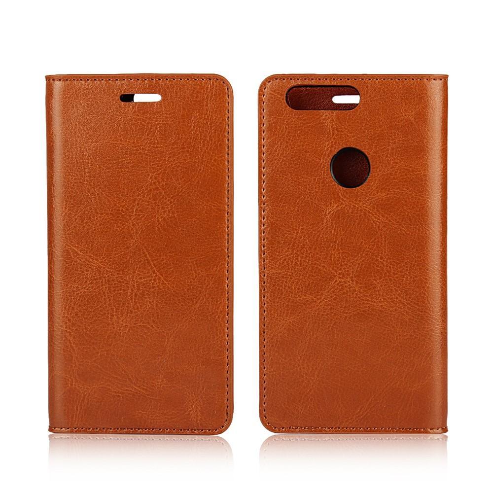 Mobilfodral Äkta Läder Huawei Honor 8 brun