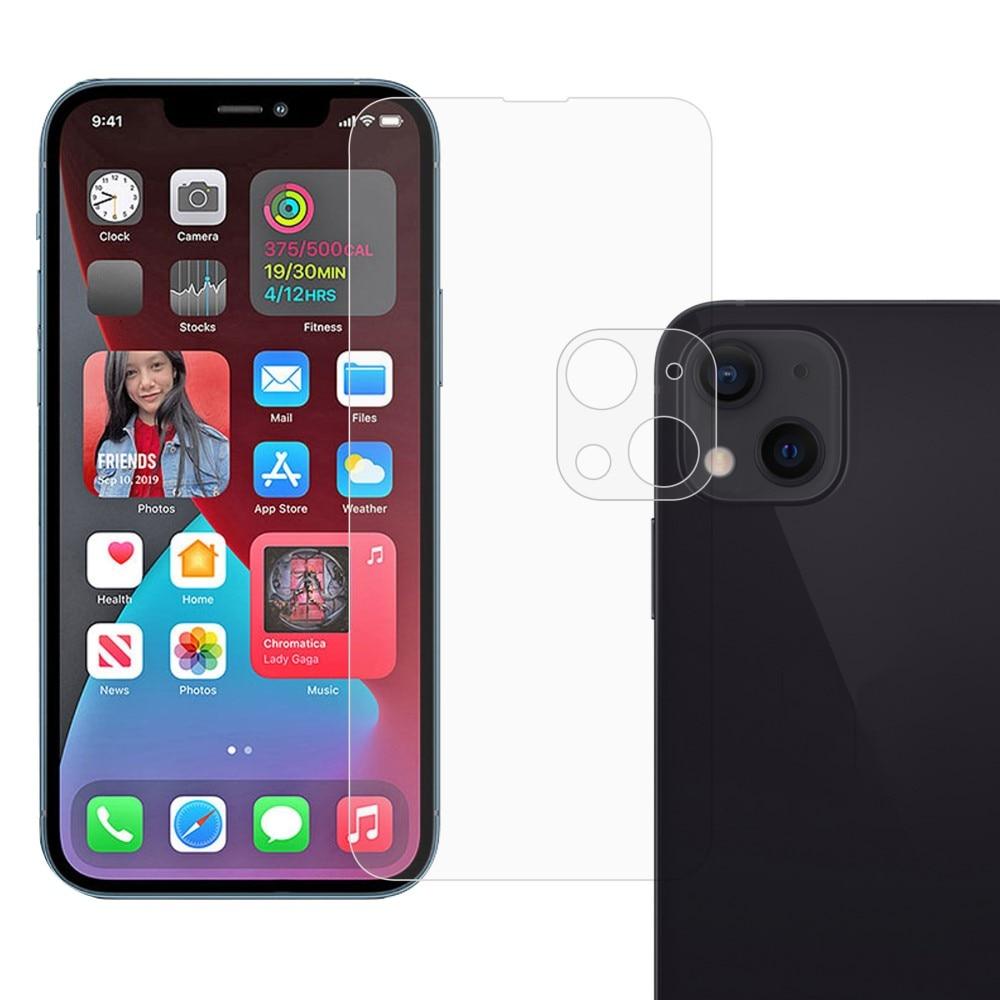 Härdat Glas Skärmskydd & Linsskydd iPhone 13 Mini