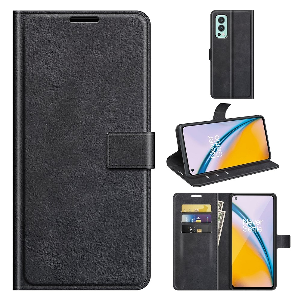 Leather Wallet OnePlus Nord 2 5G Black