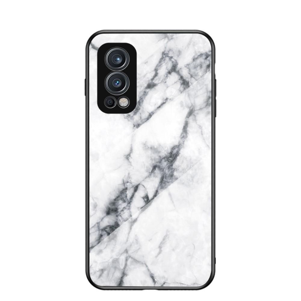 Skal Härdat Glas OnePlus Nord 2 5G vit marmor