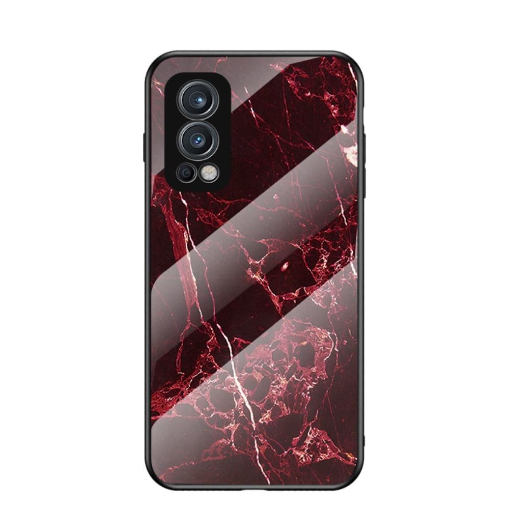 Skal Härdat Glas OnePlus Nord 2 5G röd marmor