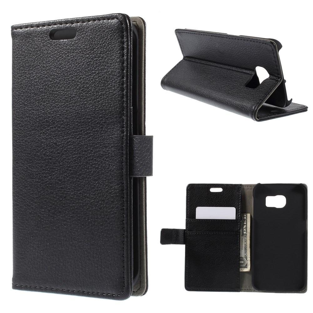Plånboksfodral Samsung Galaxy S6 Edge svart