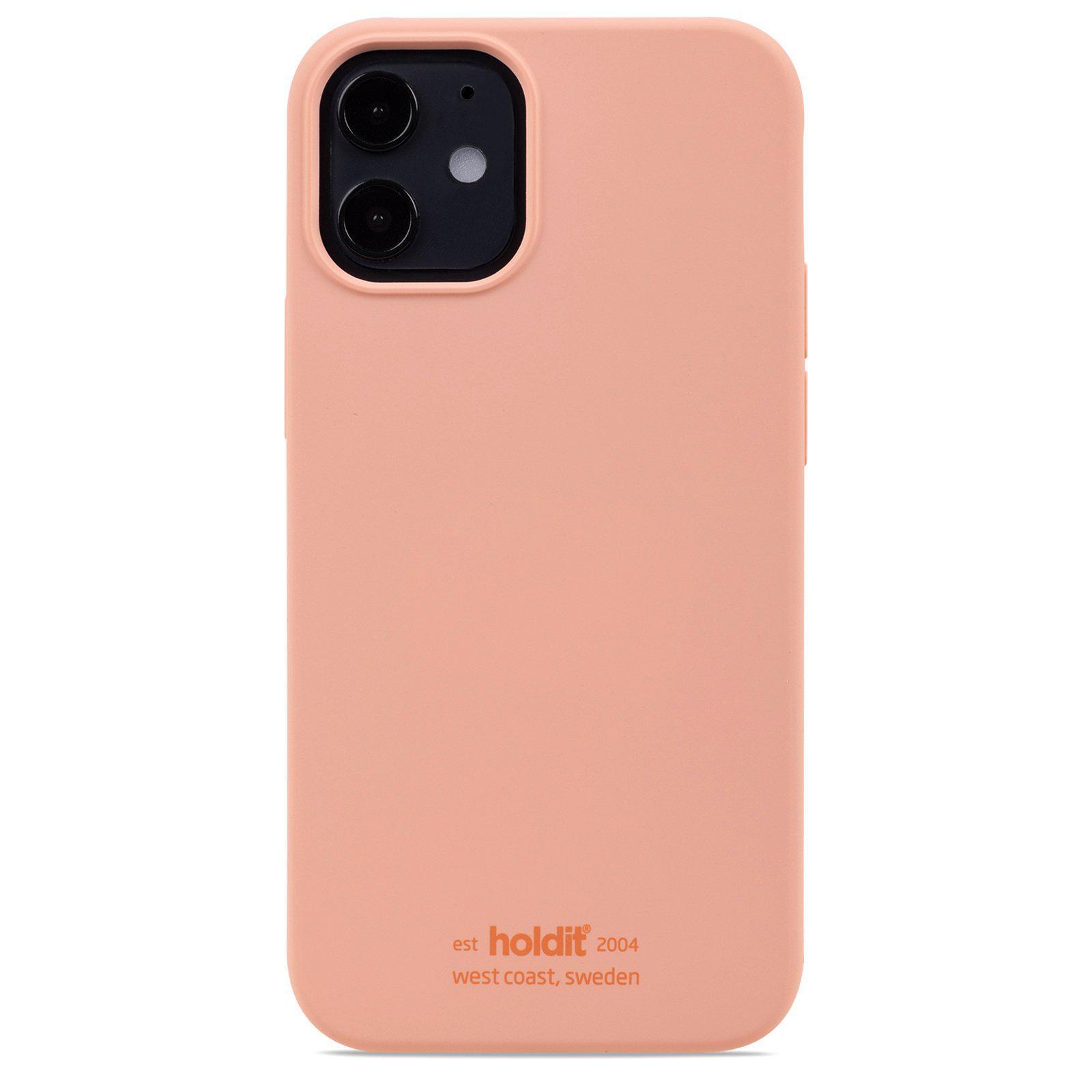 Silikonskal iPhone 12 Mini Pink Peach