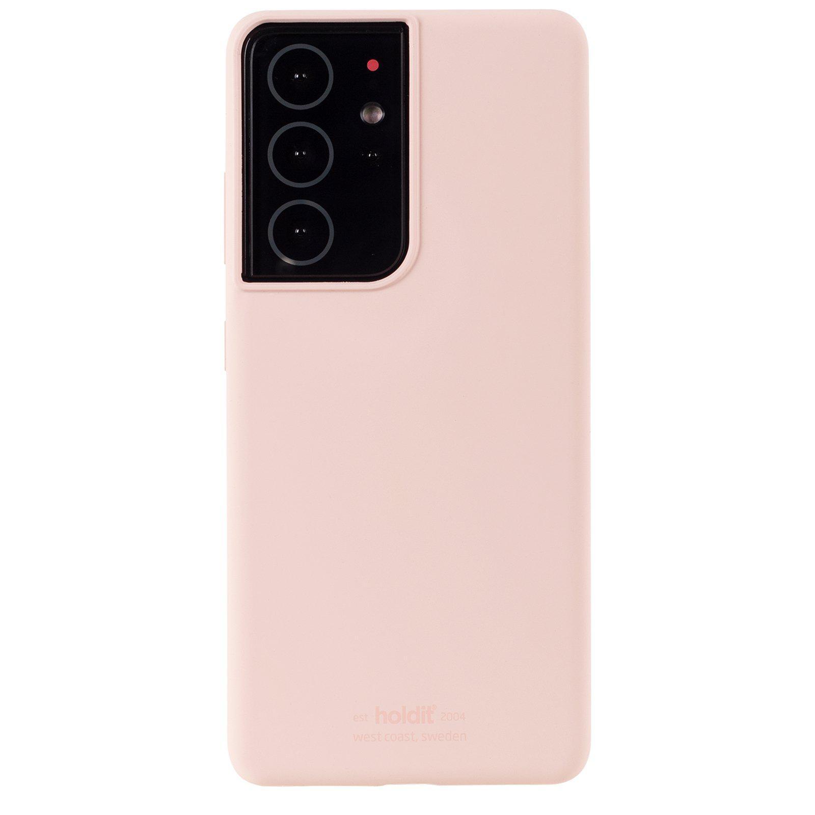 Silikonskal Galaxy S21 Ultra Blush Pink