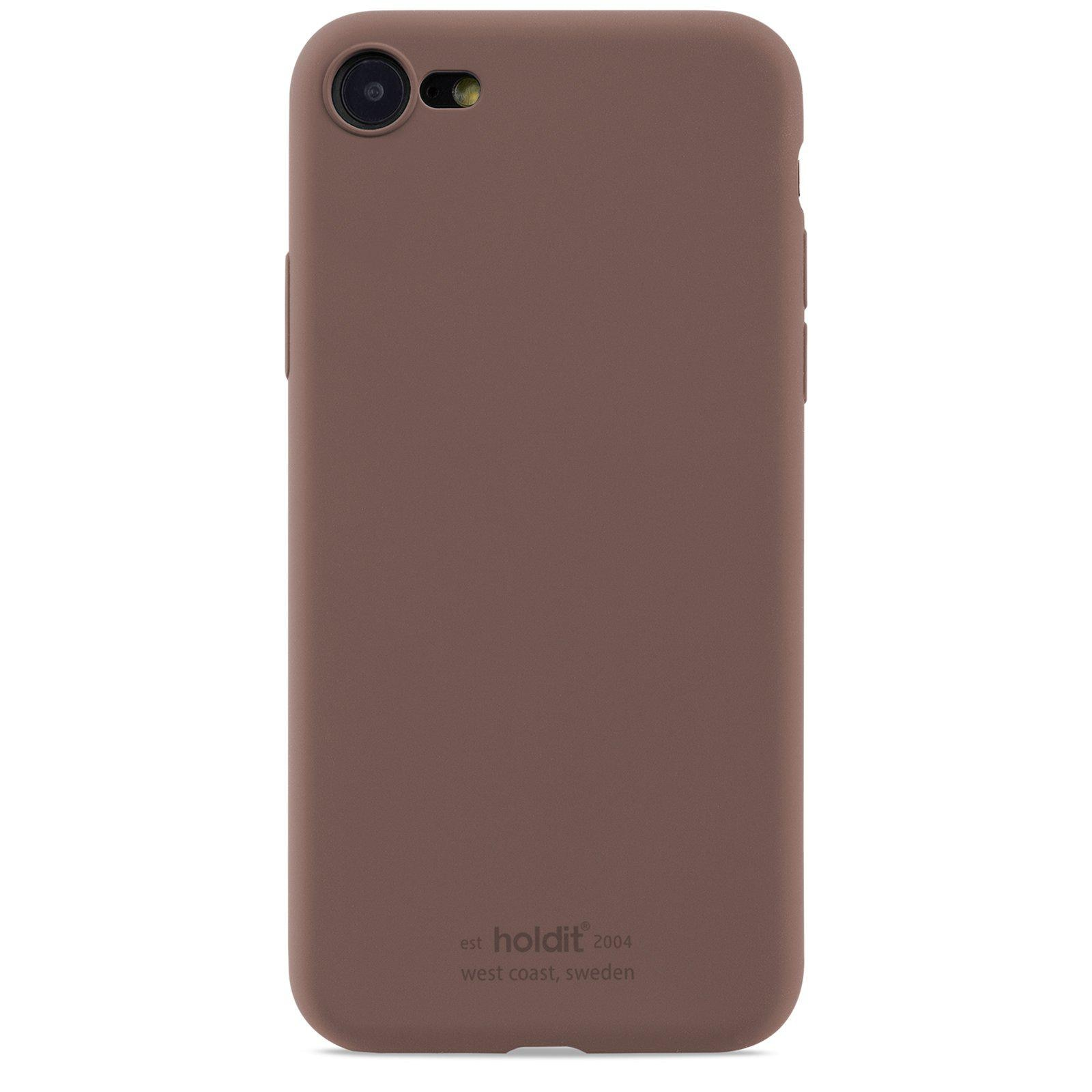 Silikonskal iPhone 7/8/SE 2020 Dark Brown