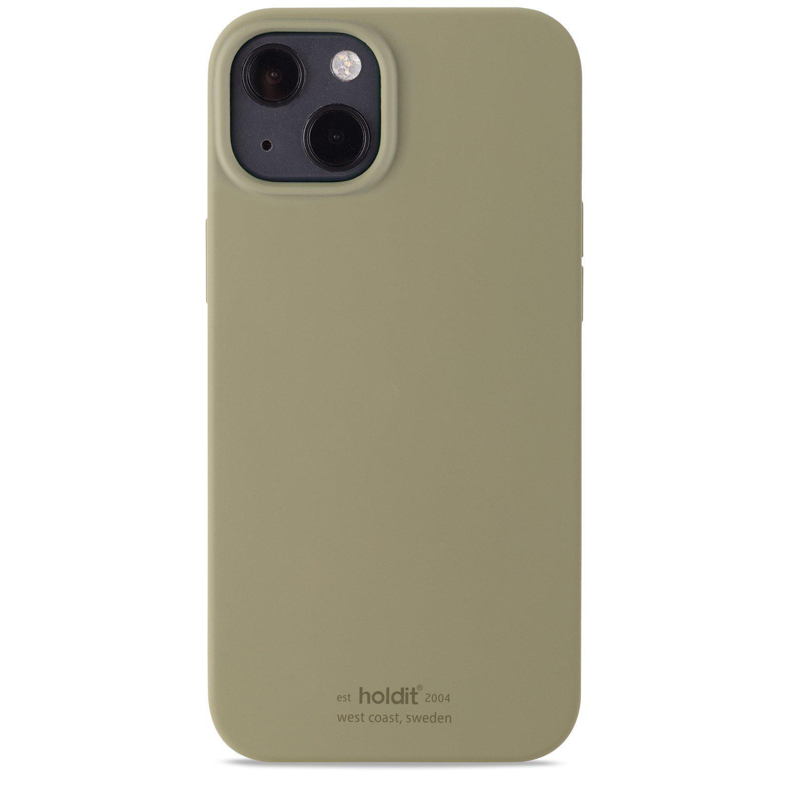 Silikonskal iPhone 13 Khaki Green