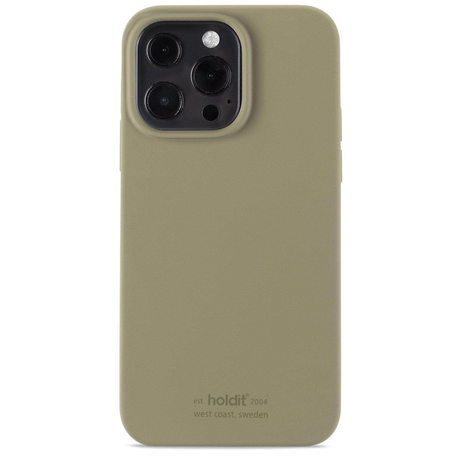 Silikonskal iPhone 13 Pro Khaki Green