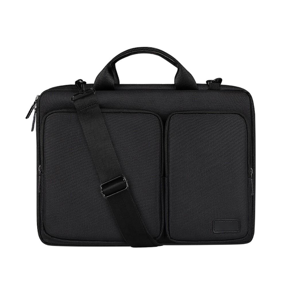 """Laptopväska med axelrem & förvaring 13,3"""" svart"""
