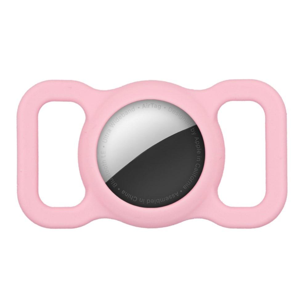 Apple AirTag skal till hundhalsband rosa