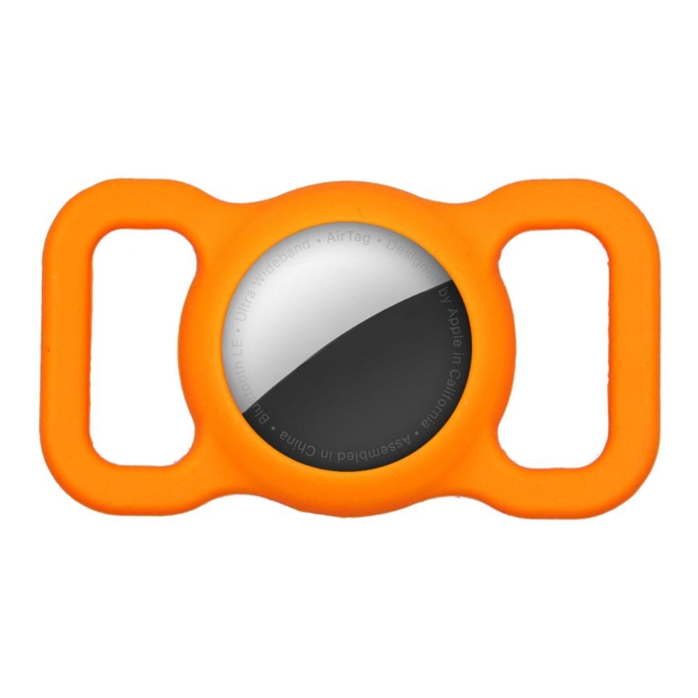 Apple AirTag skal till hundhalsband orange