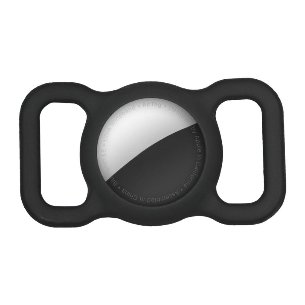 Apple AirTag skal till hundhalsband svart