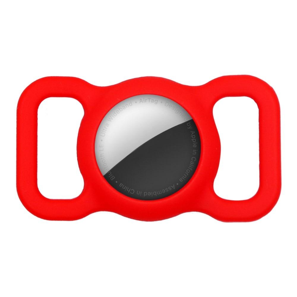Apple AirTag skal till hundhalsband röd