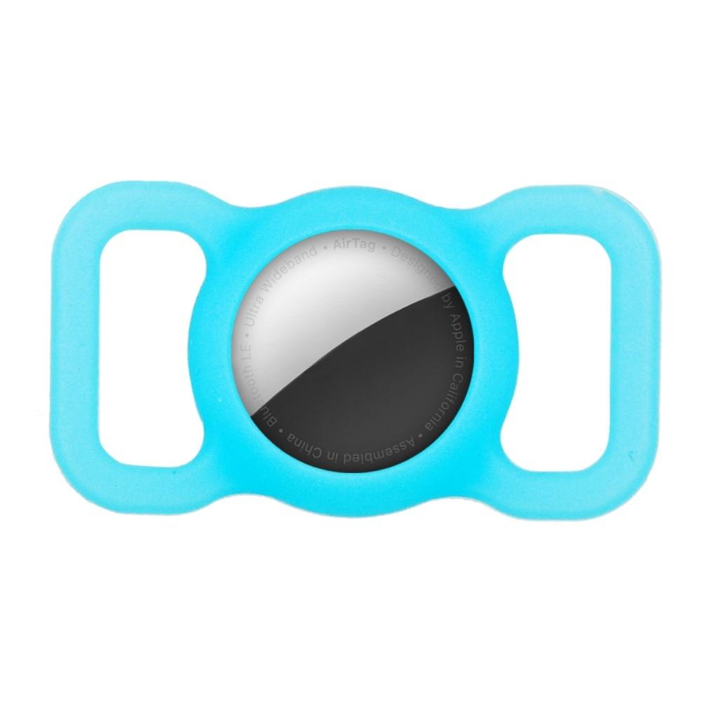 Apple AirTag skal till hundhalsband blå