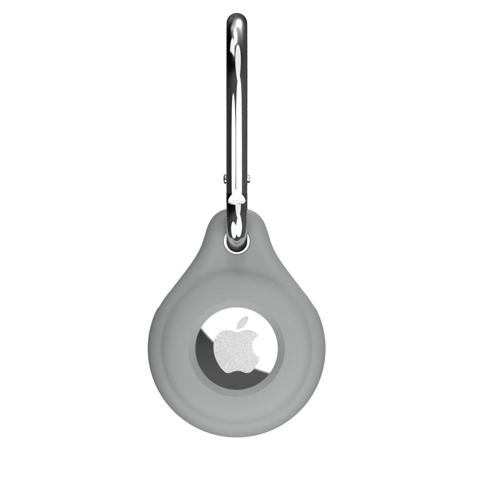 AirTag Silicone Keychain Case Grey
