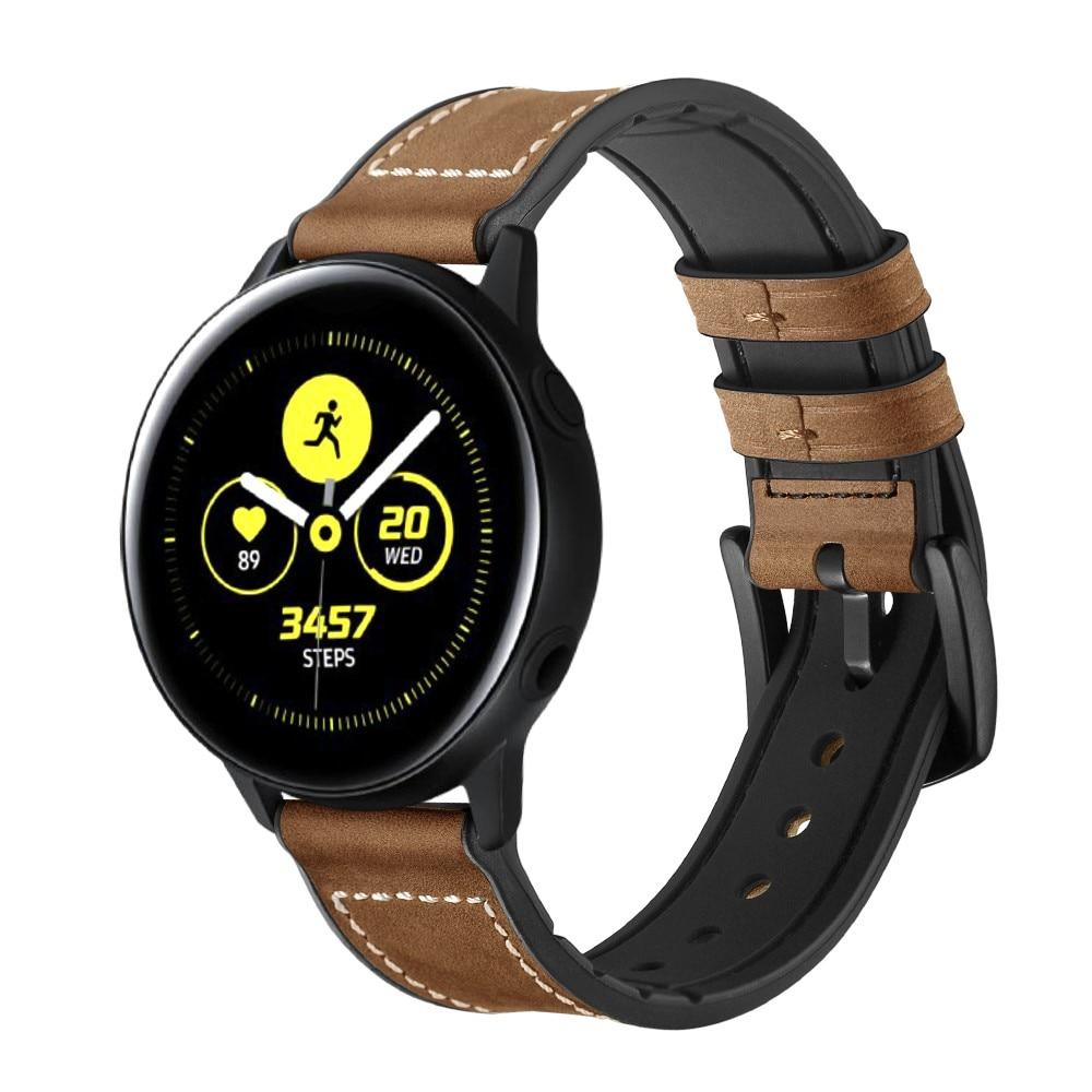 Premium Läderarmband Galaxy Watch 4 40/44 mm brun