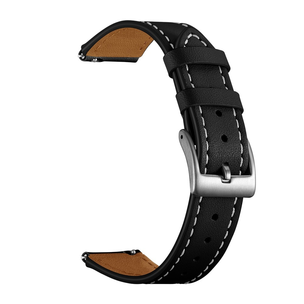 Läderarmband Garmin Vivoactive 4s/Venu 2s svart