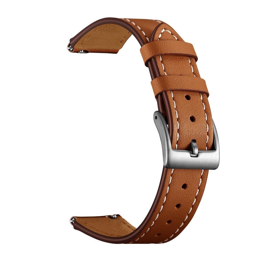 Läderarmband Garmin Vivoactive 4s/Venu 2s brun