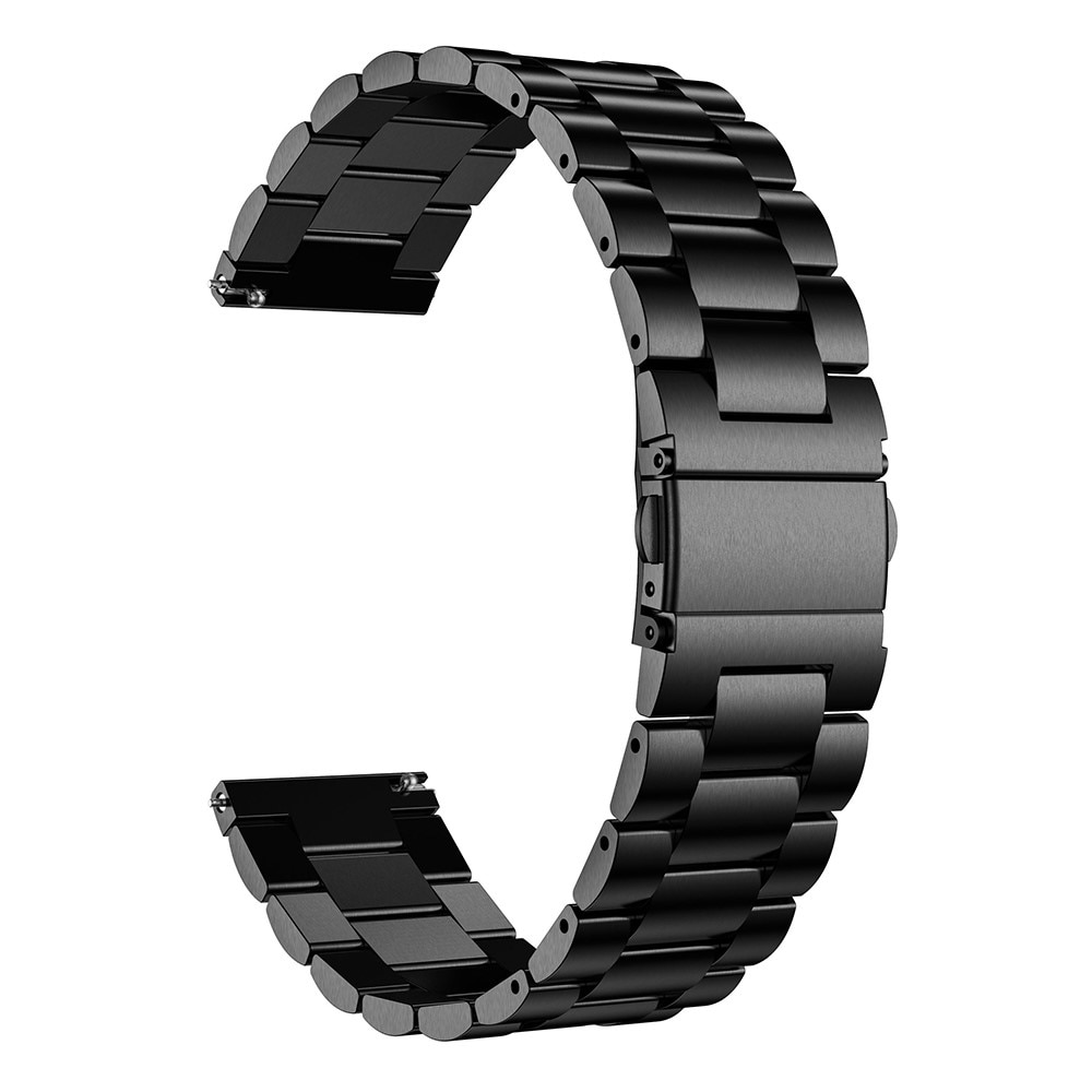 Metallarmband Universal 22mm svart