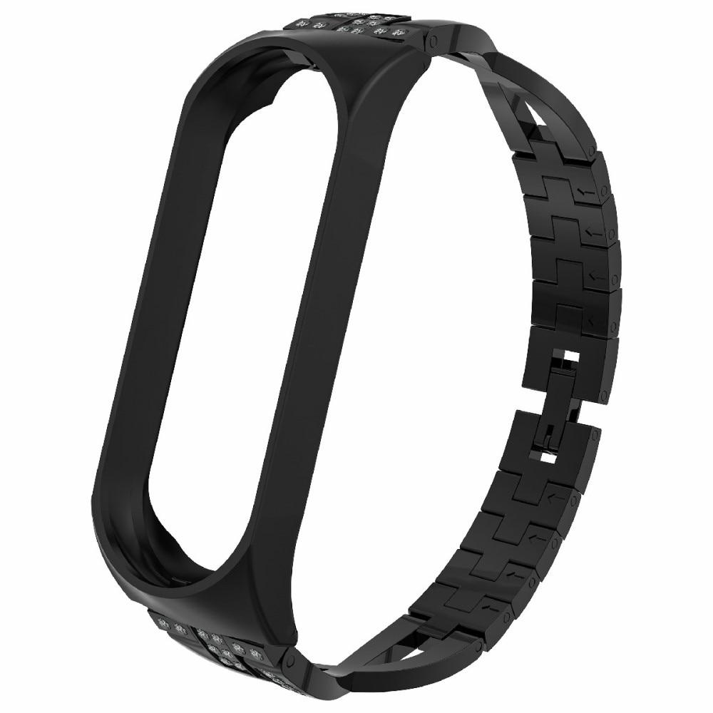 Crystal Bracelet Xiaomi Mi Band 3/4 Black