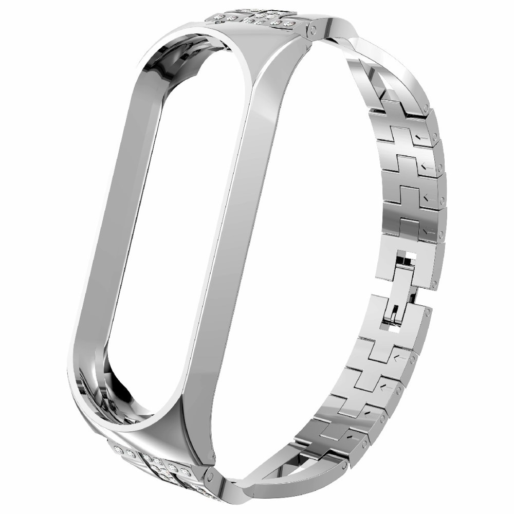 Crystal Bracelet Xiaomi Mi Band 3/4 Silver