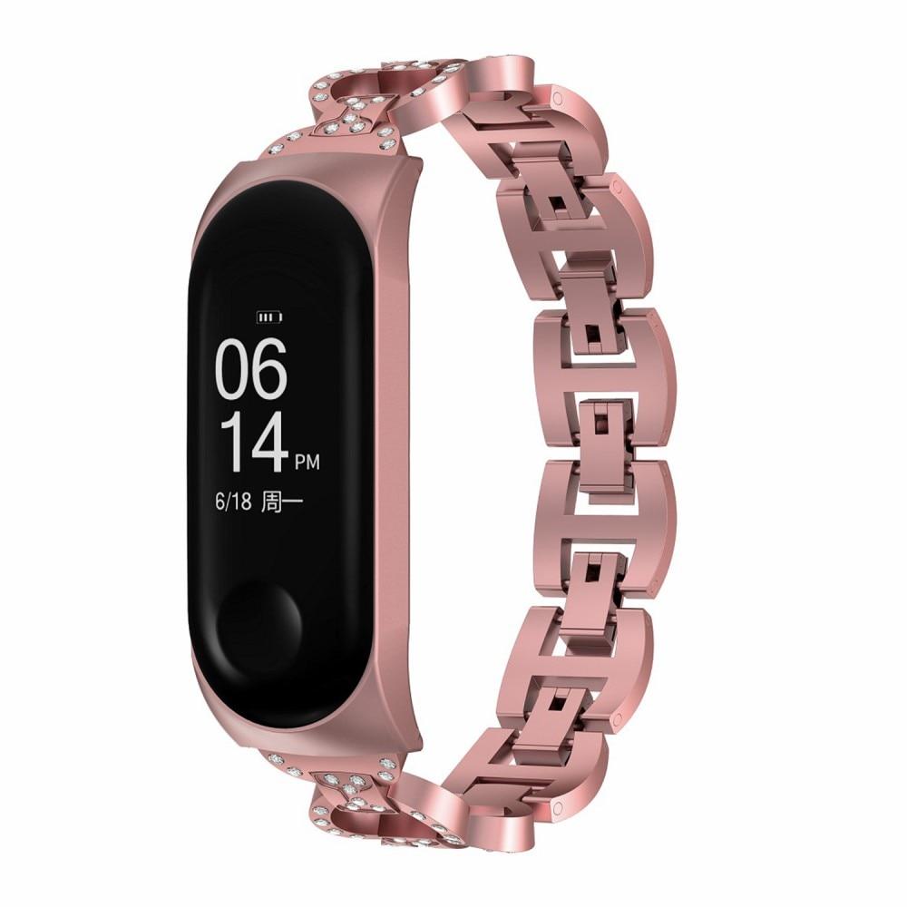 Rhinestone Bracelet Xiaomi Mi Band 5/6 Pink
