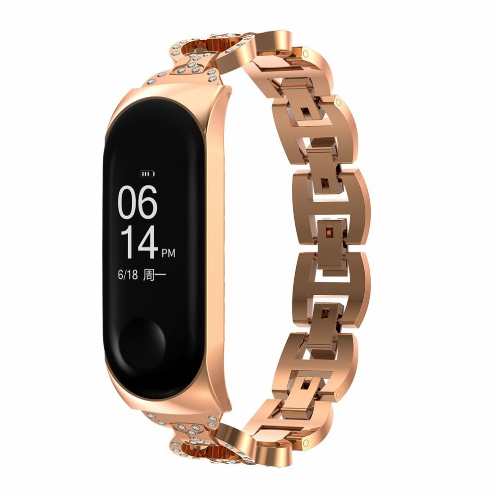 Rhinestone Bracelet Xiaomi Mi Band 5/6 Rose Gold