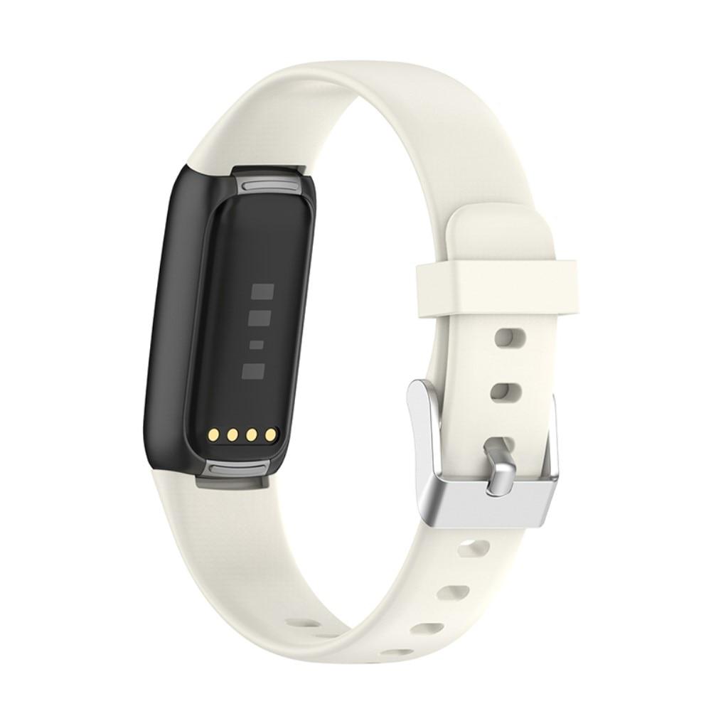 Silikonarmband Fitbit Luxe vit (Small)