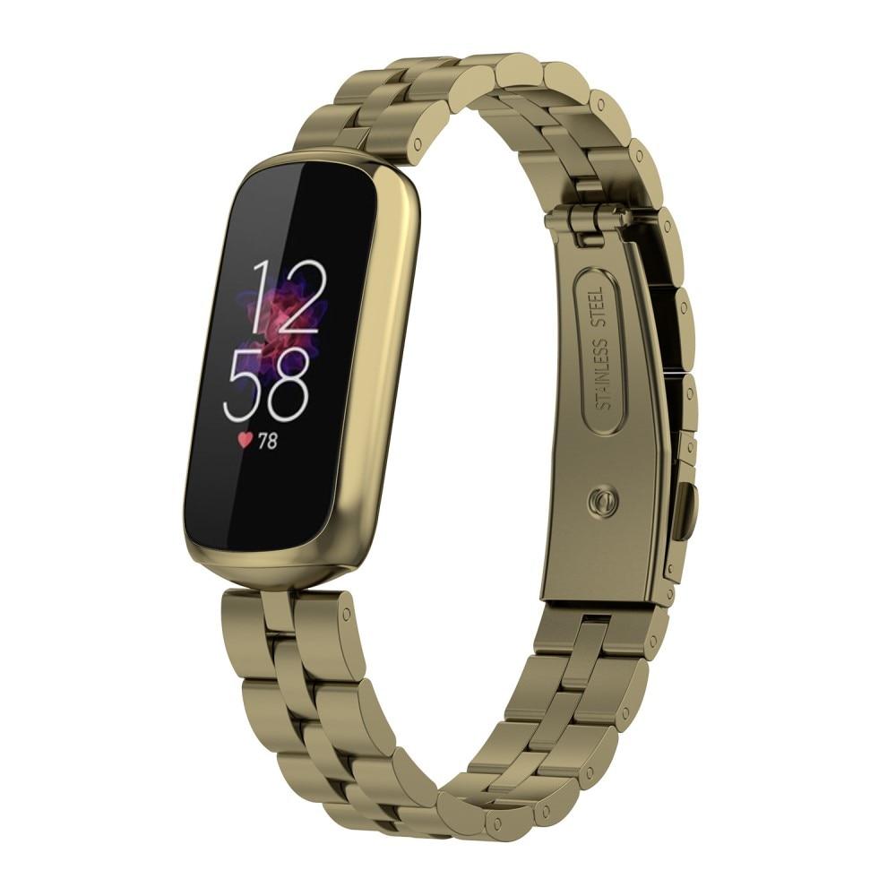 Metallarmband Fitbit Luxe guld