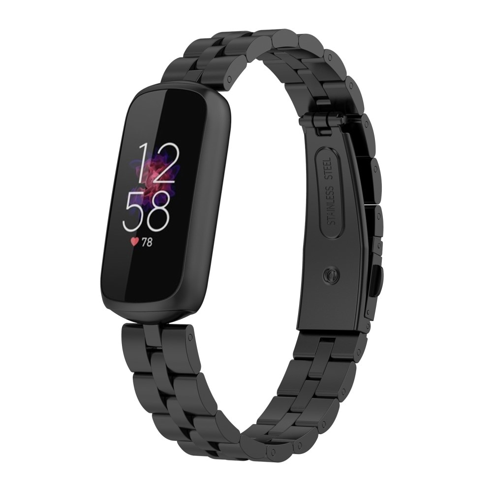 Metallarmband Fitbit Luxe svart