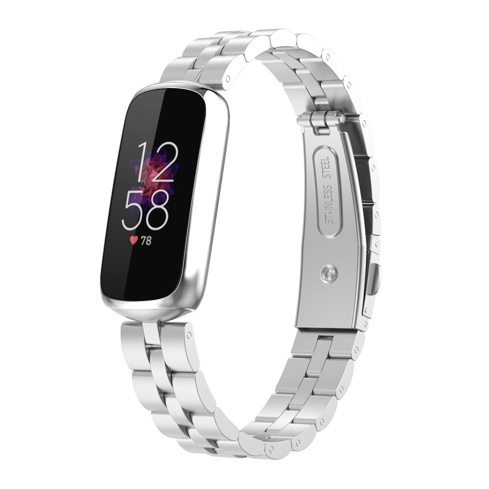 Metallarmband Fitbit Luxe silver