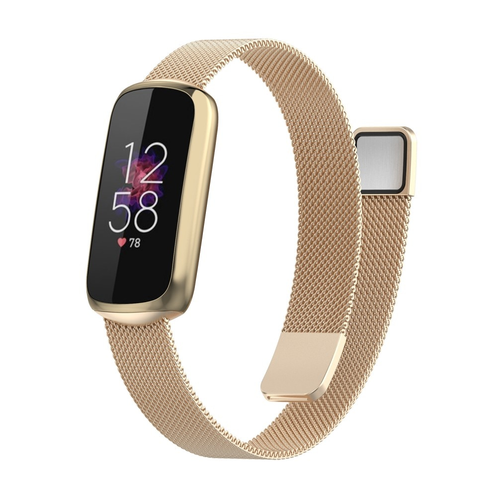 Armband Milanese Fitbit Luxe guld