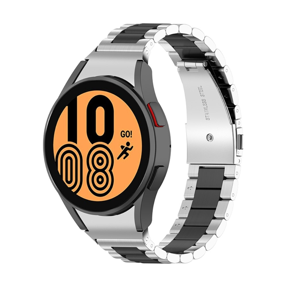 Full Fit Metallarmband Galaxy Watch 4 40/42/44/46 svart/silver
