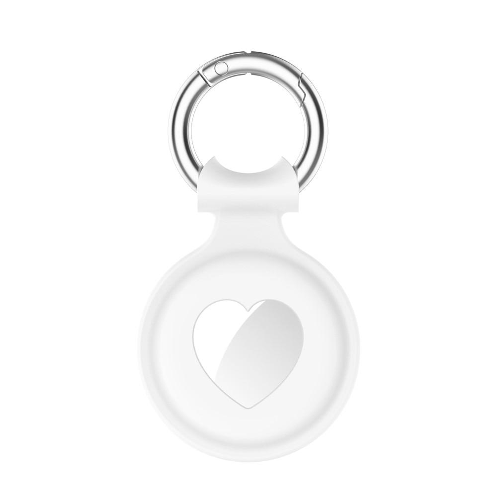 Silikonskal Apple AirTag  hjärta vit