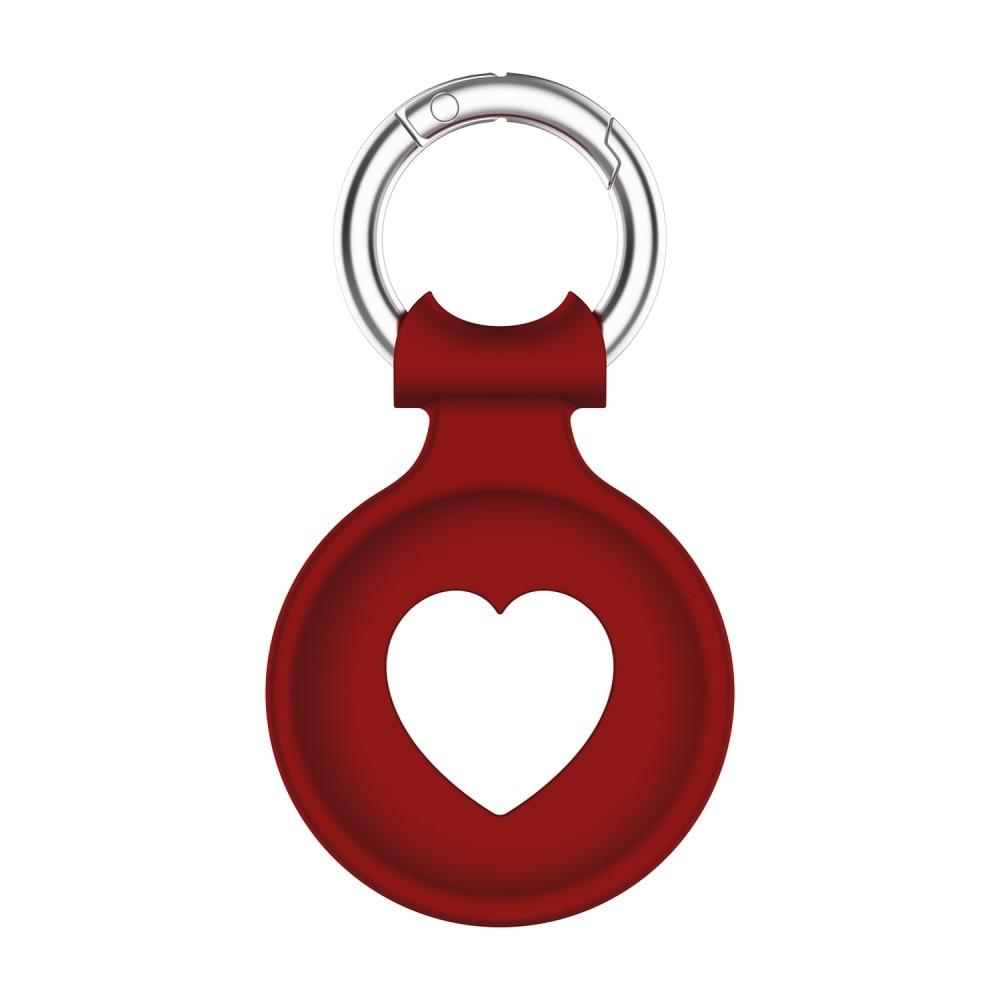 Silikonskal Apple AirTag  hjärta röd