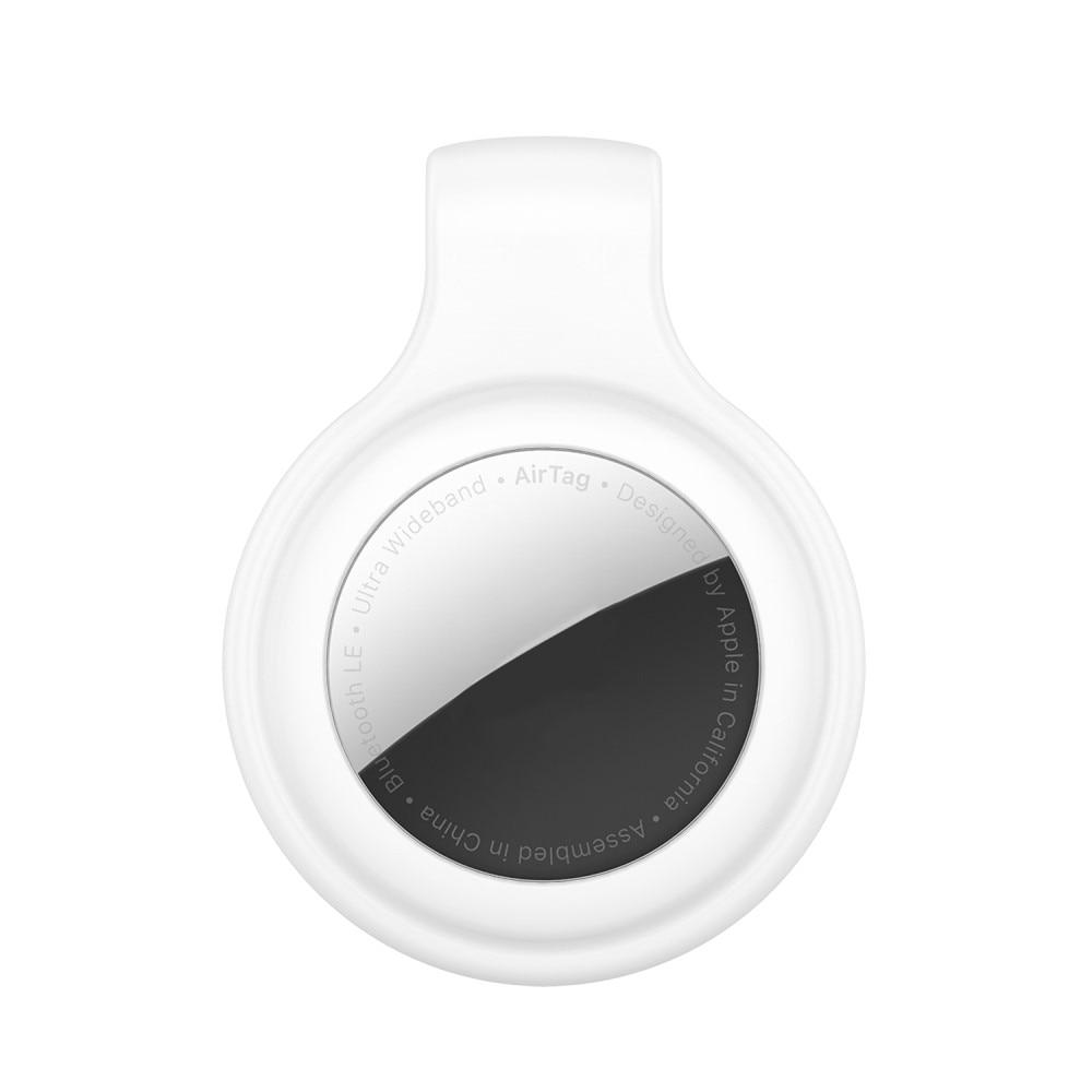 Silikonklämma/Clip Apple AirTag vit