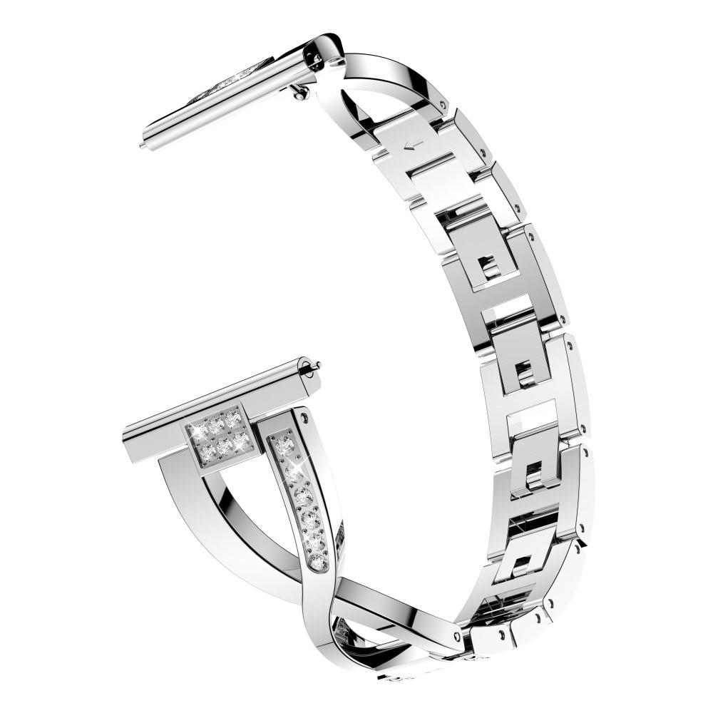 Crystal Bracelet Galaxy Watch 4 40/42/44/46 mm Silver