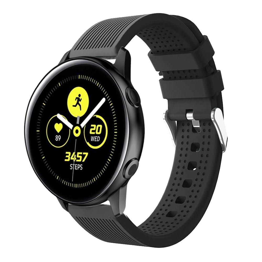 Silikonarmband Samsung Galaxy Watch 4 Classic 42/46 mm svart