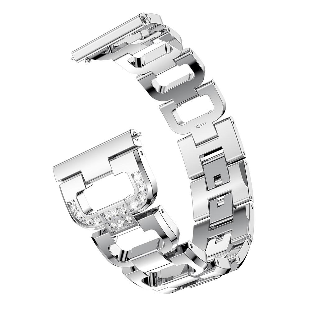 Rhinestone Bracelet Galaxy Watch 4 40/42/44/46 mm Silver