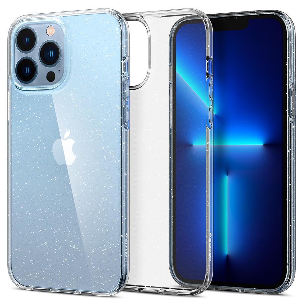 iPhone 13 Pro Max Case Liquid Crystal Glitter Crystal